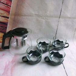 bộ ấm pha trà thủy tinh giá sỉ
