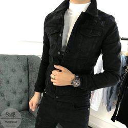 Áo khoác Jean đen giá sỉ
