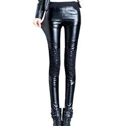Quần legging nữ ren phối thunphong cách mới lạ không đụng hàng 106 giá sỉ