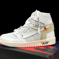 Giày thể thao Jordan1 offwhite giá sỉ