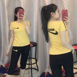 đồ bộ quần lững thể thao thun cô tôn lô gô theu soc 7 giá sỉ