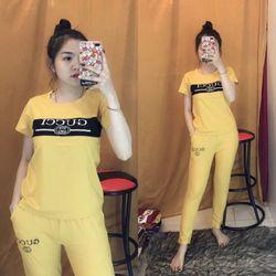đồ bộ quần dài thể thao thun cô tôn lô gô in soc 13 giá sỉ, giá bán buôn