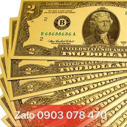 TIỀN ĐÔ MẠ VÀNG 2USD 10 USD 100USD MAY MẮN giá sỉ
