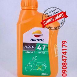 REPSOL MOTO 4T MATIC 10W30 800ml dầu nhớt xe máy tay ga giá sỉ