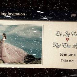 thiệp cưới thiết kế từng khách mời