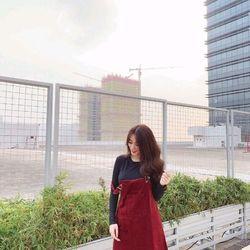 SEt yếm nhung đỏ áo pull tay dài giá sỉ