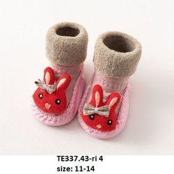 Giầy tất hồng đính thú S11-14 TE337 giá sỉ