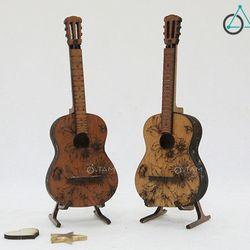 Mô hình cây đàn Guitar mini bằng gỗ