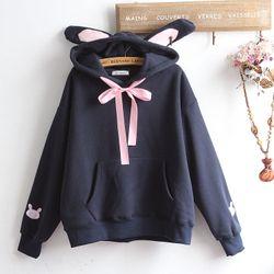 Áo khoác hoodie nữ tay dài hình đầu thỏ cực cá tínhdễ thương 129 giá sỉ