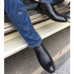 Giày bốt nam - chelsea boots da bò giá sỉ