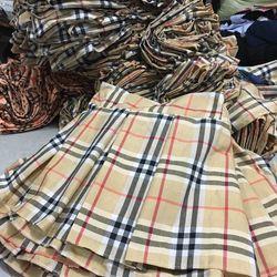 quần váy caro xếp li giá sỉ
