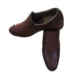 Giày da cá sấu màu nâu