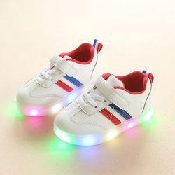 giày sneaker 2 sọc có đèn cho bé trai - bé gái giá sỉ
