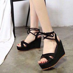 giày sandal xuồng cột dây cute giá sỉ