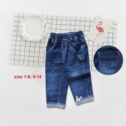 Quần jeans bé gái lửng bướm lai s9-14 giá sỉ
