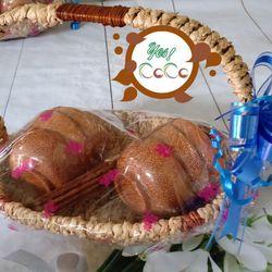 Bộ quà tặng tết 6 chén gỗ dừa đũa giá sỉ