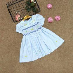 Đầm nhúng hoa văn cho bé gái giá sỉ