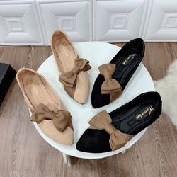 giày bup bê nơ vải xinh giá sỉ