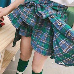 Quần váy caro đai kiểu bé gái siêu mẫu 10-15kg giá sỉ