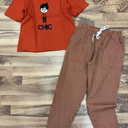 SET KAKI THUN CHIC