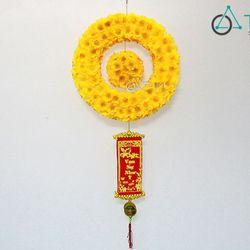 Vòng treo cửa Tết Hoa mai ĐK 33cm số 01