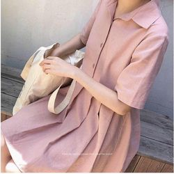 Đầm hồng babydoll xếp ly MÃ DAMHGBBD1307 giá sỉ