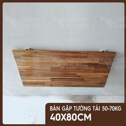 Bàn gập treo tường - Bàn gỗ keo 40x80cm tải 50-70kg giá sỉ
