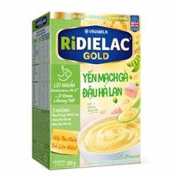 Bột ăn dặm RIDIELAC GOLD Yến mạch gà đậu hà lan - Hộp giá sỉ