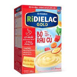 Bột ăn dặm RIDIELAC GOLD Bò rau củ - Hộp giấy 200g giá sỉ
