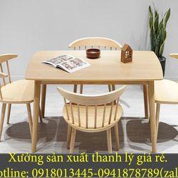 Bộ bàn ghế gỗ cafe ghế gỗ quán ăn nhà hàng giá sỉ