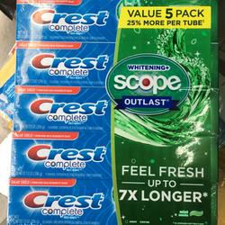 Kem đánh răng Crest Complete Scope 206g giá sỉ