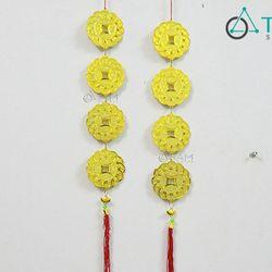 Dây treo Tết Đồng tiền vàng số 43 70cm một cái
