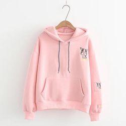 Áo khoác hoodie nỉ logo chó mặt xệ giá sỉ