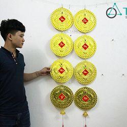 Dây treo Tết Đồng tiền vàng cỡ lớn số 44 170cm một cái