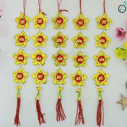 Bộ 5 Dây treo cây mai đào bông hoa số 44 30cm