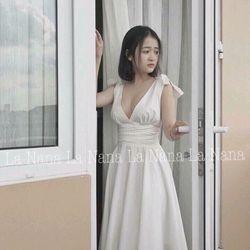 Đầm maxi trắng giá sỉ