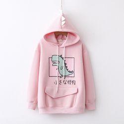 Áo khoác hoodie nỉ khủng long năng động cute giá sỉ