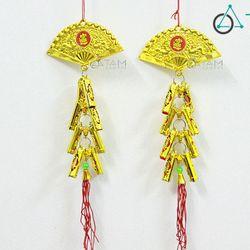 Dây treo cây mai đào Pháo quạt vàng số 30 30cm một cặp
