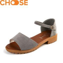 MẪU MỚI Giày Sandal Thời Trang Cao Gót 3cm Quai Ngang Phong Cách Nữ Tính 2702