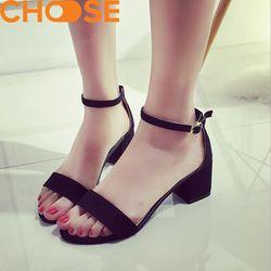 MẪU MỚI Giày Gót Vuông Nữ 5 Phân Thời Trang Sandal Quai Ngang Phong Cách Ulzzang 2701