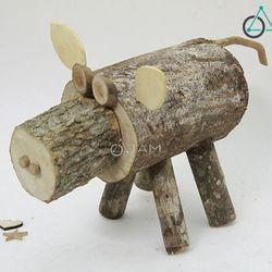 Mô hình con heo bằng gỗ số 20