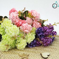 Cành hoa giả trang trí Tú cầu nhỏ số 69 giá sỉ, giá bán buôn
