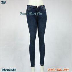 Quần Jean Nữ Lưng Cao Kiểu Trơn Ms 110 giá sỉ