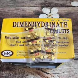 Kết quả hình ảnh cho thuốc chống say xe dimenhydrinate thái lan