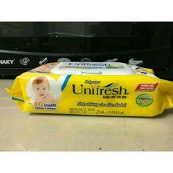 Khăn ướt không mùi Unifresh vitamin E 80M giá sỉ