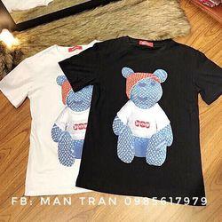 Áo thun thêu con gấu giá sỉ