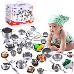 Bộ đồ chơi nấu ăn bằng inox 40 món cho bé giá sỉ