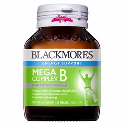 Blackmores Mega B Complex 75 Tablets - Viên uống bổ sung vitamin nhóm B ngừa tê phù chân tay giá sỉ