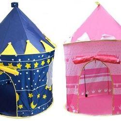 Lều bóng hoàng tử công chúa xanh