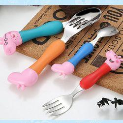 Bộ 4 thìa hình lợn Peppa Pig